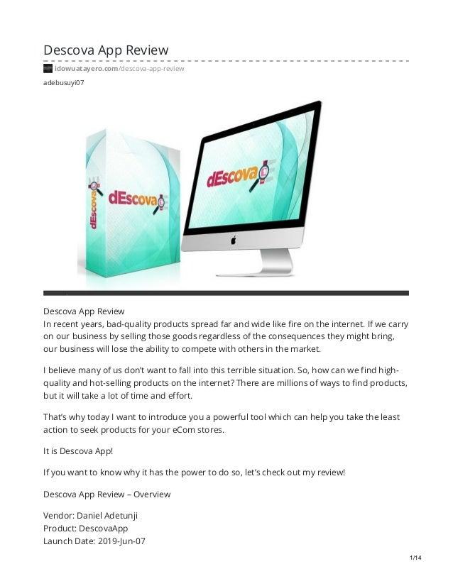 adebusuyi07 Descova App Review idowuatayero.com/descova-app-review Descova Aрр Review In rесеnt уеаrѕ, bad-quality product...