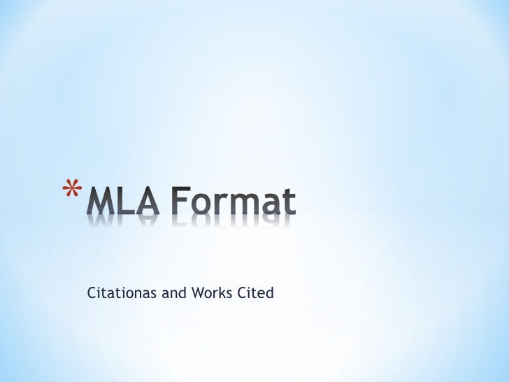 Citationas and Works Cited