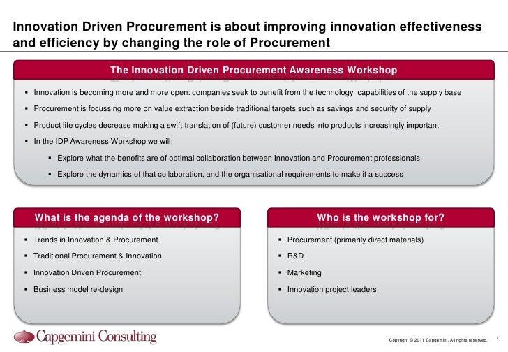 Innovation Driven Procurement Awareness Workshop