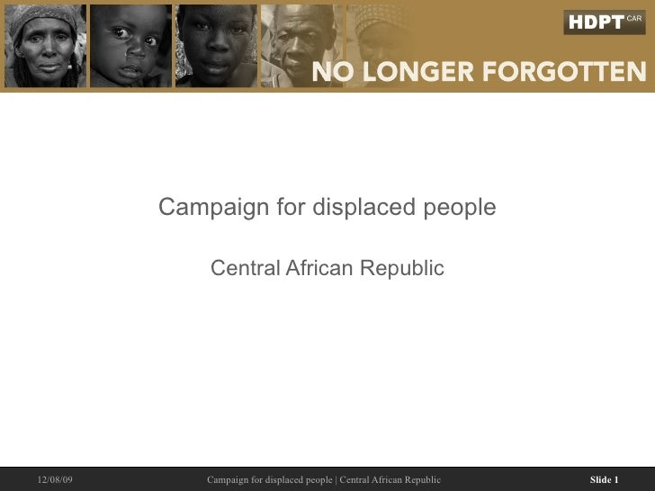 Campaign for displaced people Central African Republic