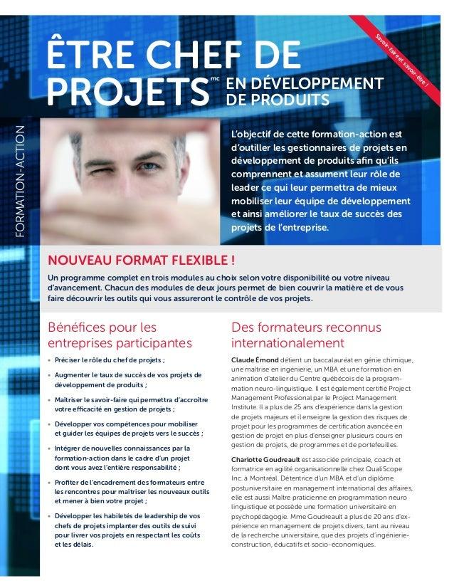 TYPED'ACTIVITÉ Des formateurs reconnus internationalement Claude Émond détient un baccalauréat en génie chimique, une maît...