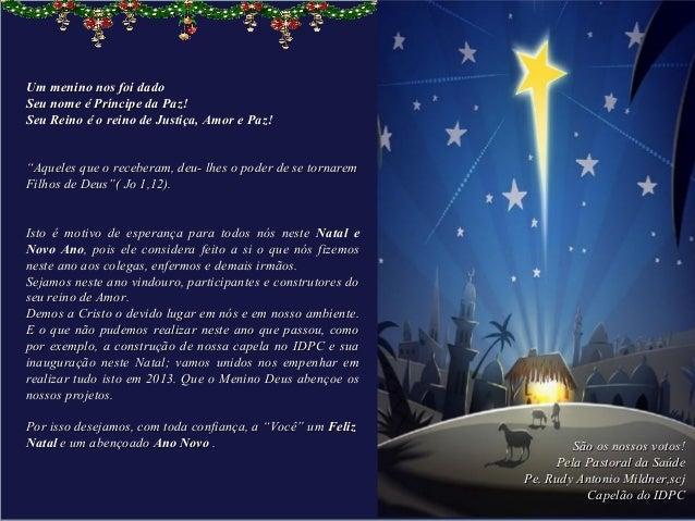 Mensagem De Natal Evangélica Para Amigos: Idpc Mensagem Natal