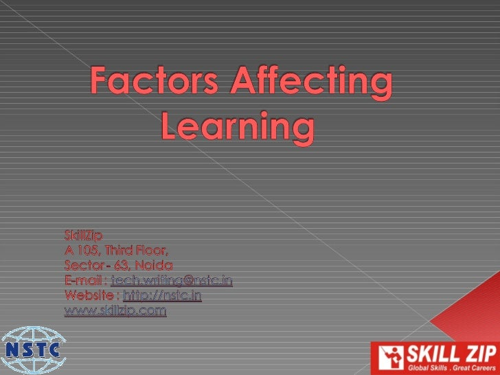 Instructional Design is largely affected by how a    user learns. There are many factors affecting a    learner's learning...