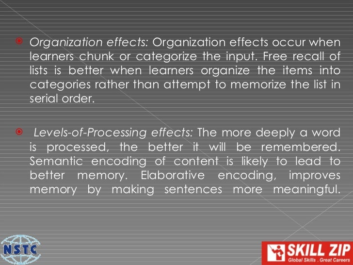    State-Dependent effects: State- or Context-dependent    effects occur because learning takes place within a    specifi...
