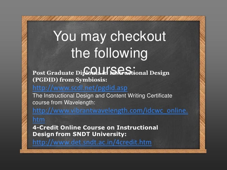 So What On The Earth Is Instructional Design