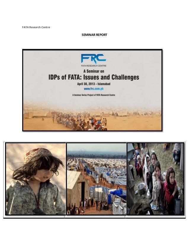 FATA Research CentreSEMINAR REPORT