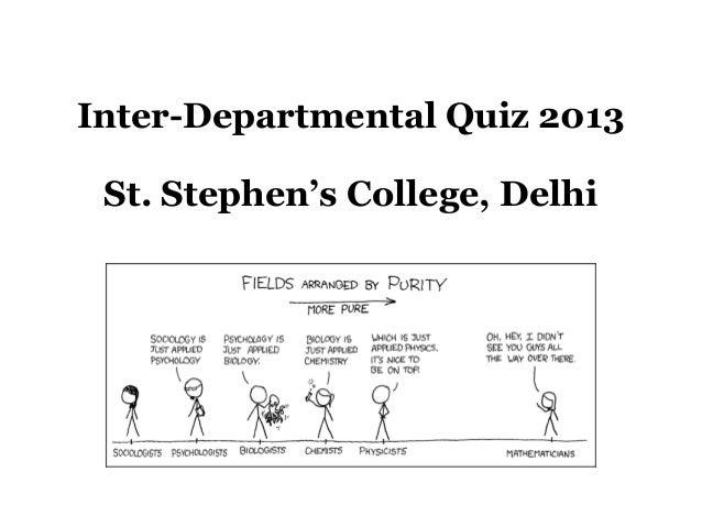 Inter-Departmental Quiz 2013 St. Stephen's College, Delhi