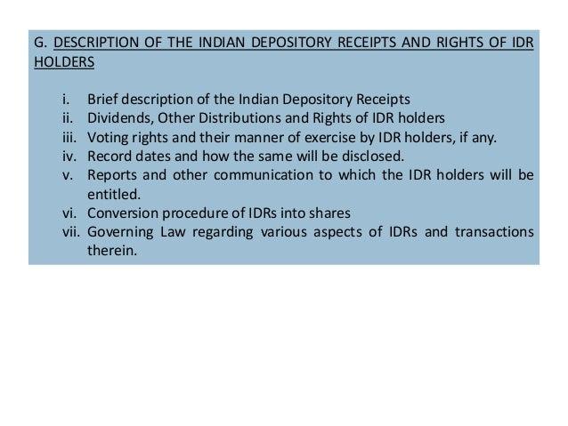 Indian depository receipt(IDR)
