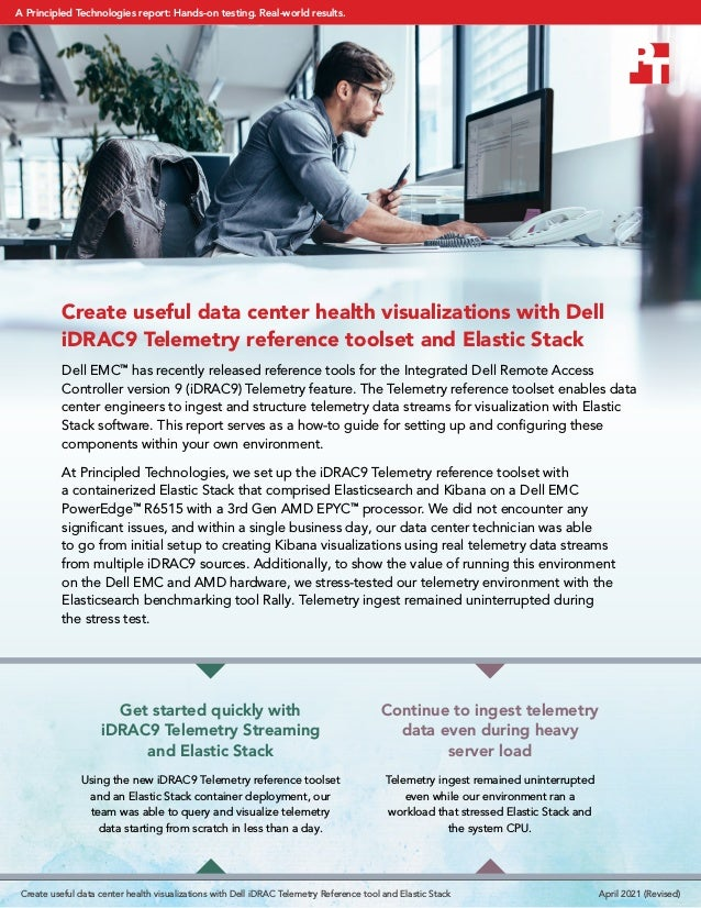 Create useful data center health visualizations with Dell iDRAC9 Telemetry reference toolset and Elastic Stack Dell EMC™ h...