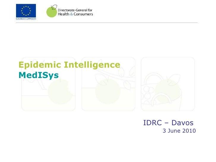 Epidemic Intelligence-MedISys