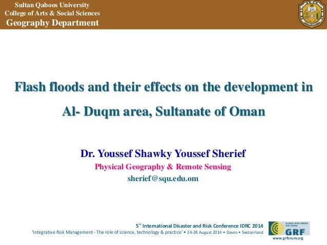 Flash floods and their effects on the development in  5th International Disaster and Risk Conference IDRC 2014  'Integrati...