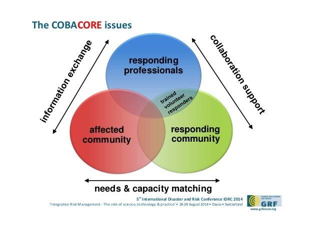 Community based system for disaster management