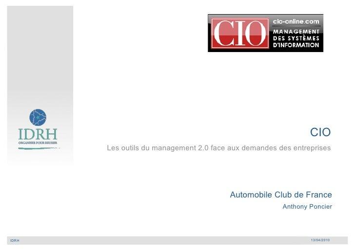 Les outils du management 2.0 face aux demandes                                       des entreprises                      ...