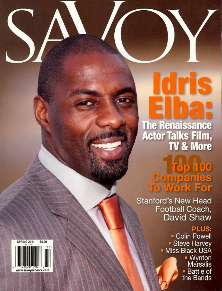 Cover Story - Idris Elba Interview - Savoy Spring 2011