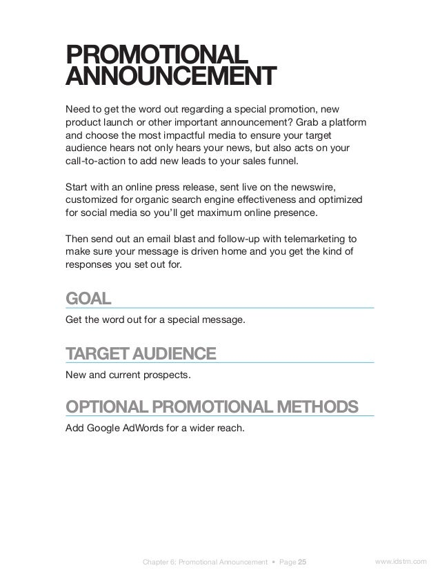 promotion announcement email pacqco – Sample Promotion Announcement