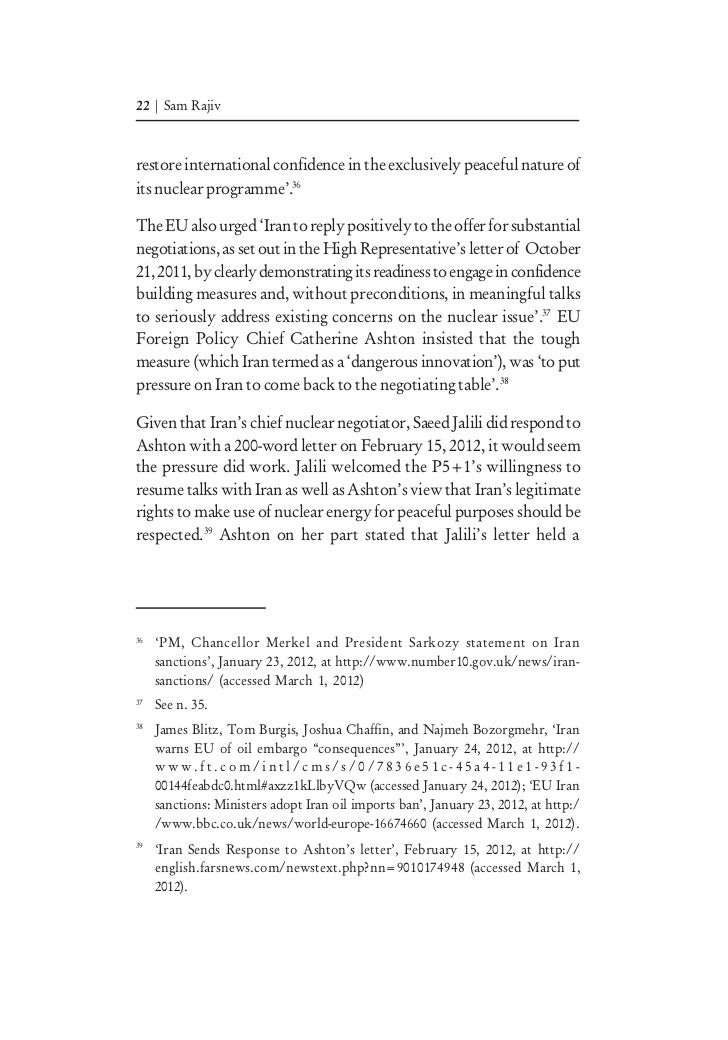 essay on iran nuclear program This is chapter 5 of the book iran's nuclear program and international law: from confrontation to accord (oxford university press, 2016) chapter 5 is entitled.
