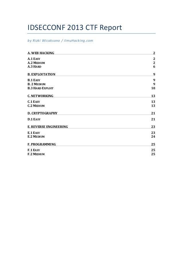 IDSECCONF 2013 CTF Report by Rizki Wicaksono / ilmuHacking.com  A. WEB HACKING  2 A.1 EASY ...