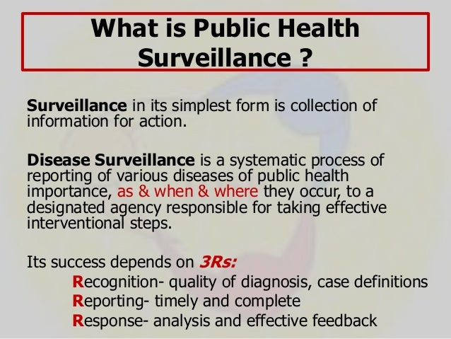 Surveillance of Infectious Diseases