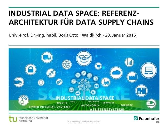 © Fraunhofer, TU Dortmund ·· Seite 1 Univ.-Prof. Dr.-Ing. habil. Boris Otto · Waldkirch · 20. Januar 2016 INDUSTRIAL DATA ...