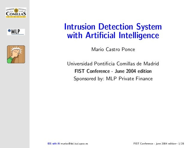 Intrusion Detection System               with Artificial Intelligence                                      Mario Castro Pon...