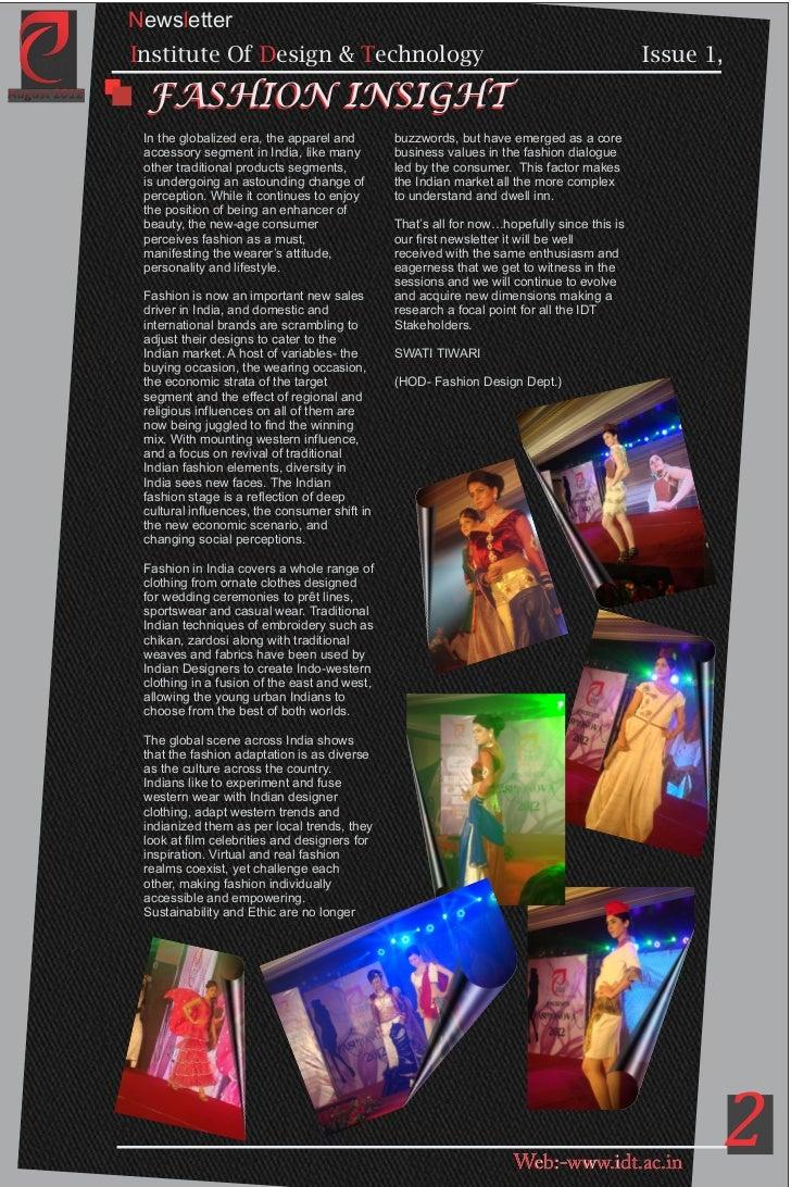 2 Newsletter Institute Of Design