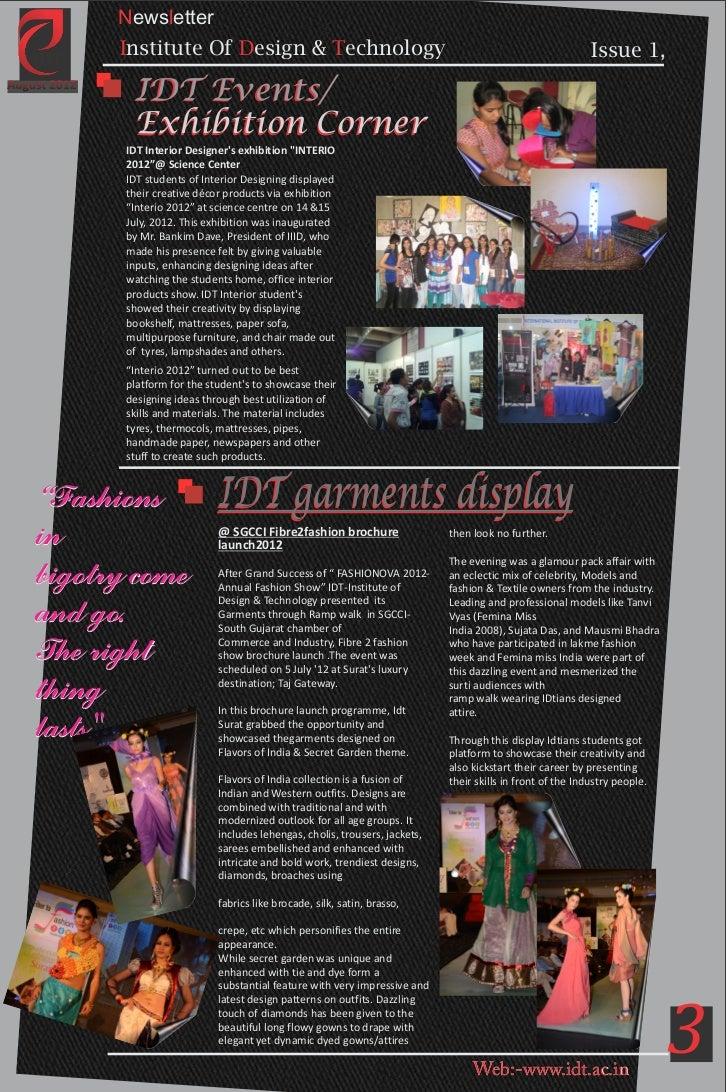 3 Newsletter Institute Of Design