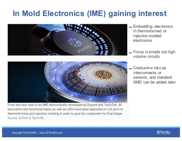 Copyright © IDTechEx |  www.IDTechEx.com Embedding  electronics  in thermoformed  or  injection-molded electroni...