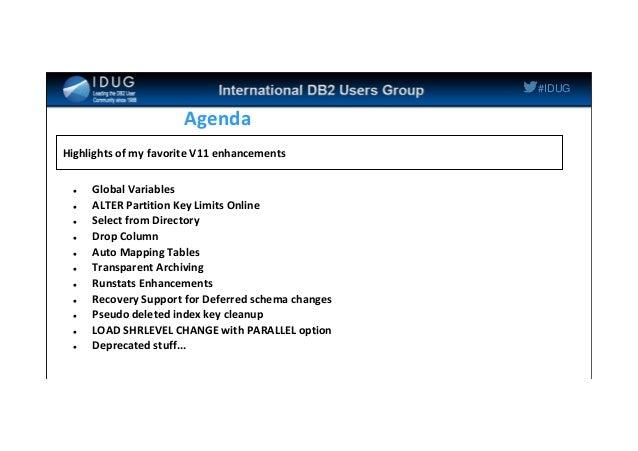 IDUG NA 2014 / 11 tips for DB2 11 for z/OS