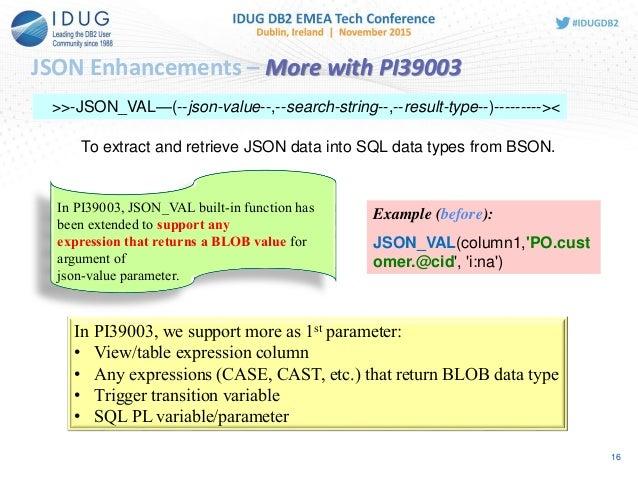 Json support in db2 for zos json enhancements urtaz Gallery