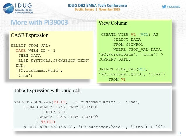 Json support in db2 for zos 17 urtaz Gallery