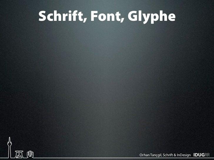 Schriften & InDesign Slide 2