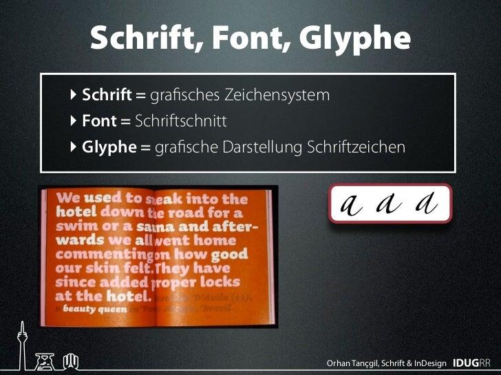 Schriften & InDesign Slide 3