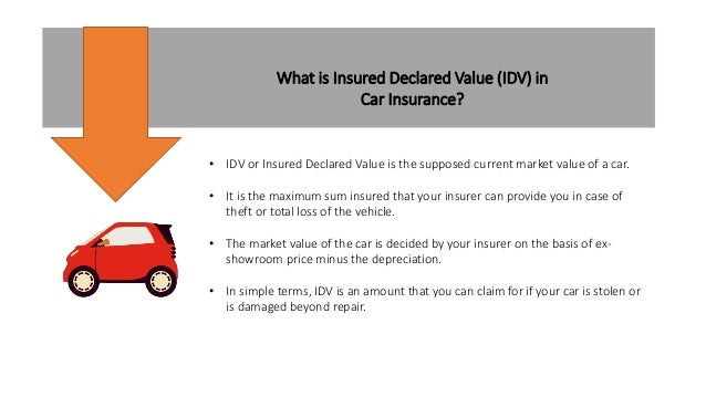 Idv In Car Insurance