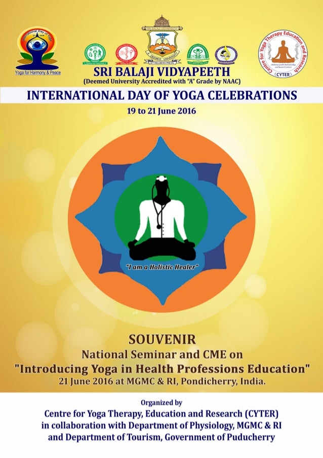 National Seminar & CME at SBV, Pondicherry 2016 2 Chief Patron Shri MK RAJAGOPALAN Chairman, Sri Balaji Educational and Ch...