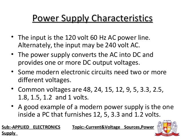 Applied Electronics Power Supply