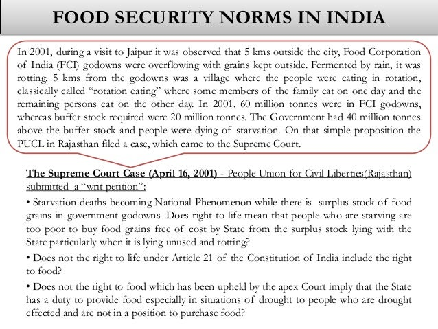 essay writing on food security bill in india While india has seen impressive of the appropriate policy actions in response to food crises the food security portal is designed to pool.