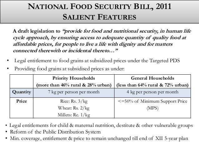 Fact Sheet: India's Food Security Bill