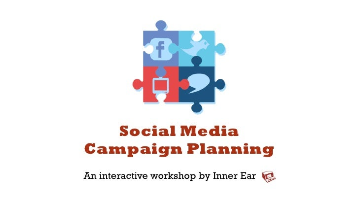 Social MediaCampaign PlanningAn interactive workshop by Inner Ear