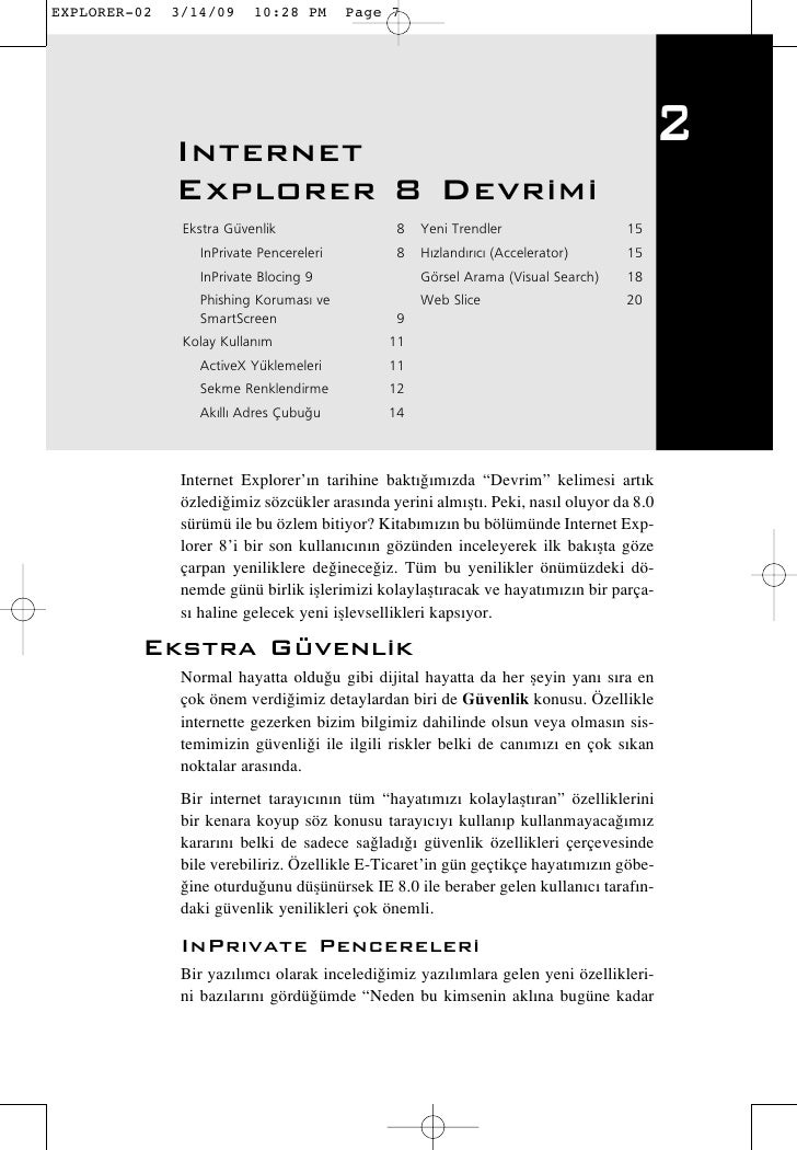 Internet                                                                              2  Explorer 8 Devrimi   Ekstra Güven...