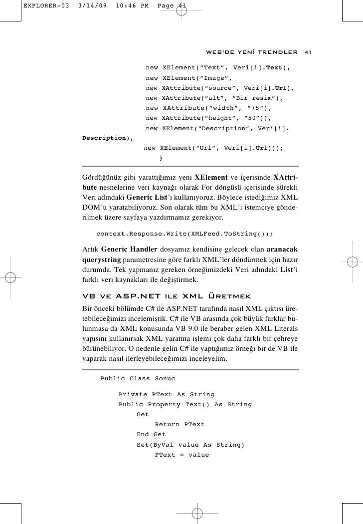 """WEB'DE YEN‹ TRENDLER             41                      new   XElement(""""Text"""", Veri[i].Text),                     new   X..."""