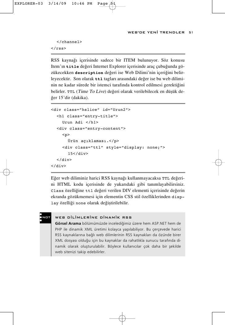 WEB'DE YEN‹ TRENDLER              51          </channel>       </rss>        RSS kayna¤› içerisinde sadece bir ITEM bulunu...