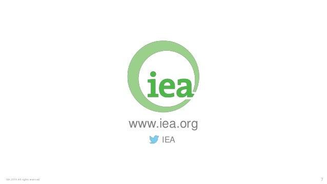 7IEA 2019. All rights reserved. www.iea.org IEA