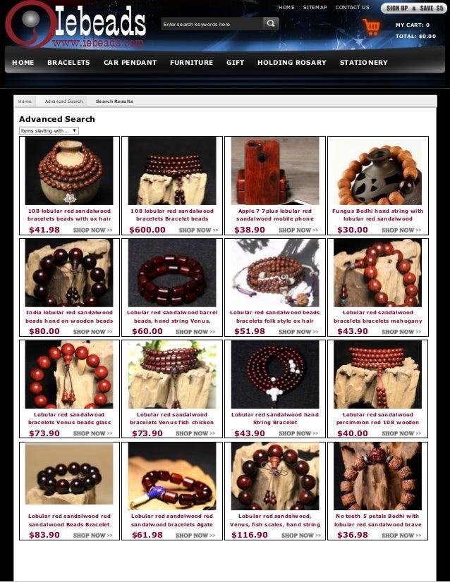Iebeads beads bracelet lobular red sandalwood chinese