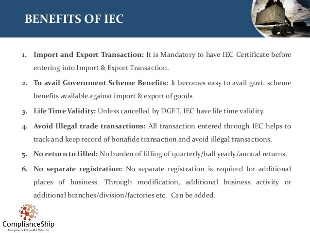 Import Export Code (IEC) - Business beyond the Boundaries  Slide 3