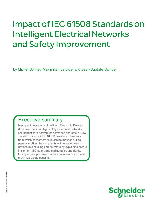 Executive summary Improper integration of Intelligent Electronic Devices (IED) into medium / high voltage electrical netwo...