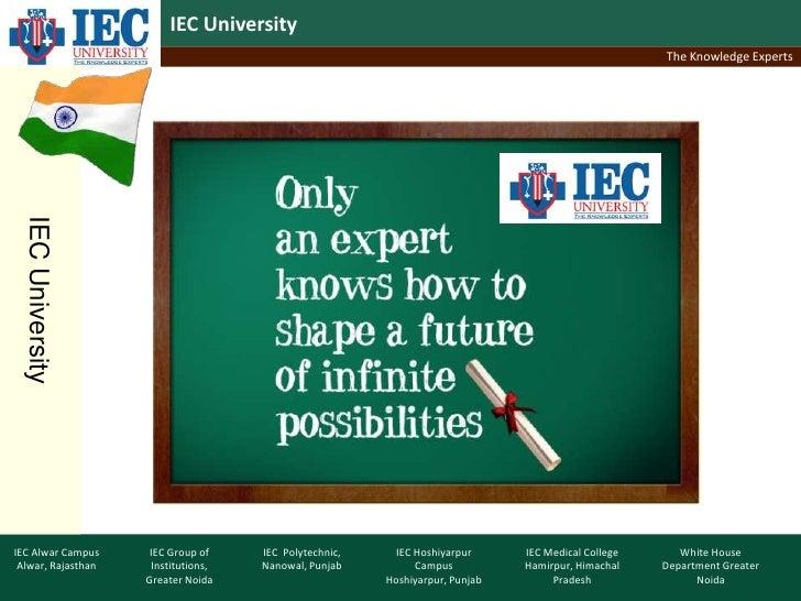 IEC University                                                                                                    The Know...
