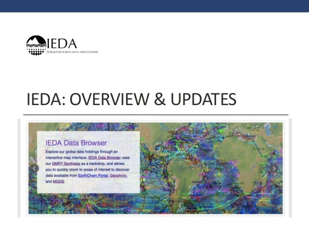 IEDA: OVERVIEW & UPDATES