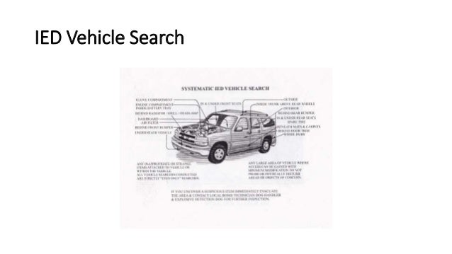 Ied Vehicle Search