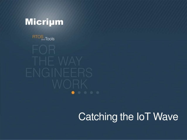Catching the IoT Wave