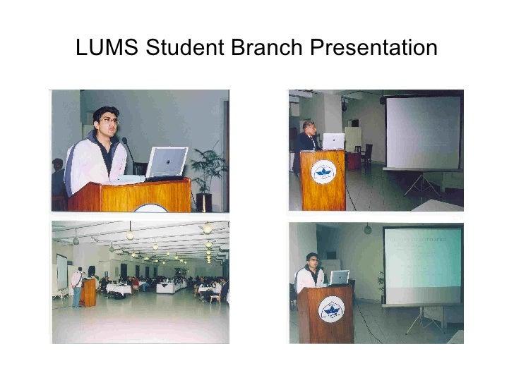 IEEE Lahore Section Annual General Meeting 2005 Slide 3
